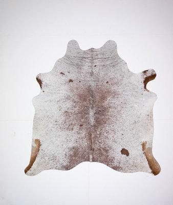 KOELAP Koeienhuid Vloerkleed - Bruinwit Gevlekt Salt & Pepper - 195 x 195 cm - 1001474