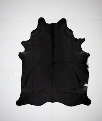 KOELAP Koeienhuid Vloerkleed - Zwart Egaal - 185 x 220 cm - 1001828