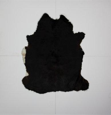 KOELAP Stierenhuid Vloerkleed - Zwart Egaal - 150 x 175 cm - 1000878