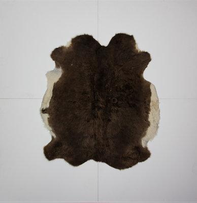 KOELAP Stierenhuid Vloerkleed - Bruinwit Gevlekt - 150 x 170 cm - 1000886