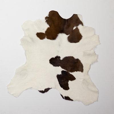 KOELAP Kalfshuid Vloerkleed - Bruinwit Gevlekt - 100 x 100 cm - 1001700
