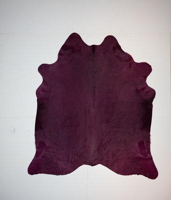 KOELAP Koeienhuid Vloerkleed - Paars Egaal Modern - 190 x 215 cm - 1002145