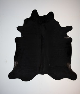 KOELAP Koeienhuid Vloerkleed - Zwart Egaal - 215 x 225 cm - 1002146