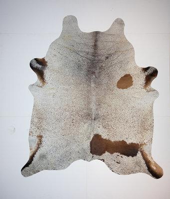KOELAP Koeienhuid Vloerkleed - Bruinwit Gevlekt Salt & Pepper - 210 x 245 cm - 1002153