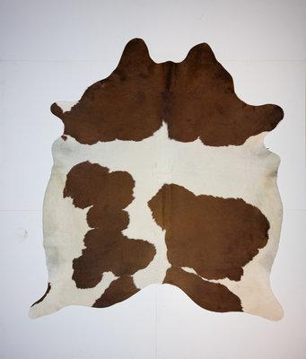 KOELAP Koeienhuid Vloerkleed - Bruinwit Gevlekt - 210 x 230 cm - 1002155