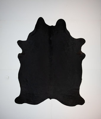 KOELAP Koeienhuid Vloerkleed - Zwart Egaal - 175 x 220 cm - 1002161