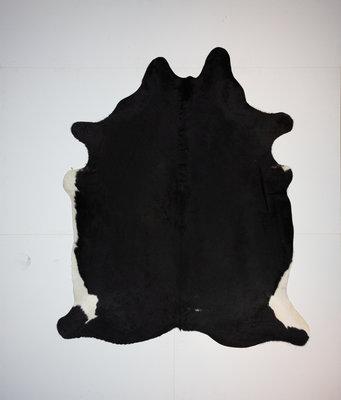 KOELAP Koeienhuid Vloerkleed - Zwartwit Egaal - 185 x 225 cm - 1002162