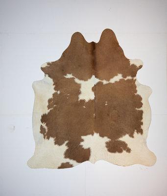 KOELAP Koeienhuid Vloerkleed - Bruinwit Gevlekt - 195 x 210 cm - 1002165