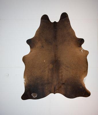 KOELAP Koeienhuid Vloerkleed - Bruin Egaal - 180 x 225 cm - 1002175