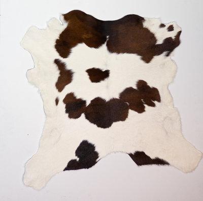 KOELAP Kalfshuid Vloerkleed - Bruinwit Gevlekt - 110 x 110 cm - 1002184