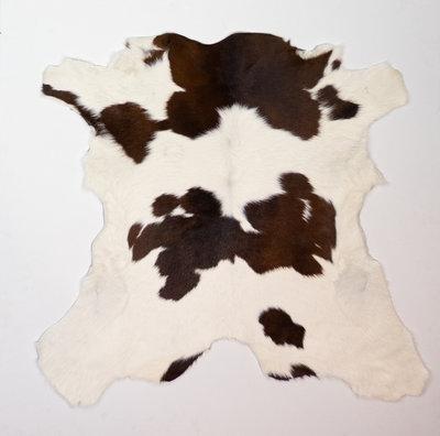 KOELAP Kalfshuid Vloerkleed - Bruinwit Gevlekt - 110 x 105 cm - 1002189