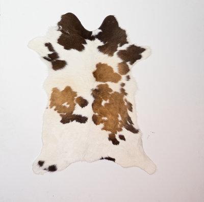 KOELAP Kalfshuid Vloerkleed - Bruinwit Gevlekt - 75 x 95 cm - 1002211