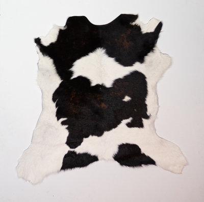 KOELAP Kalfshuid Vloerkleed - Bruinwit Gevlekt - 105 x 100 cm - 1002212