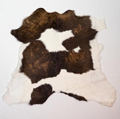 KOELAP Kalfshuid Vloerkleed - Bruinwit Gevlekt - 115 x 100 cm - 1002215