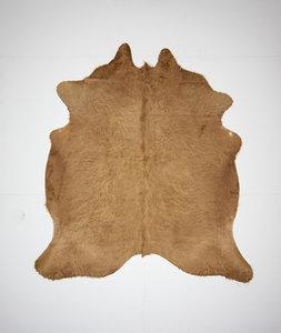 KOELAP Koeienhuid Vloerkleed - Beige Egaal Langharig - 195 x 210 cm - 1001845