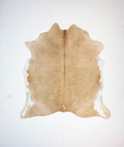 KOELAP Koeienhuid Vloerkleed - Beige Egaal - 185 x 195 cm - 1003709