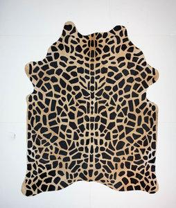 KOELAP Koeienhuid Vloerkleed - Beige Giraffe Modern - 200 x 250 cm - 1003745