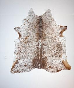 KOELAP Koeienhuid Vloerkleed - Bruinwit Gevlekt Salt & Pepper - 205 x 215 cm - 1004018