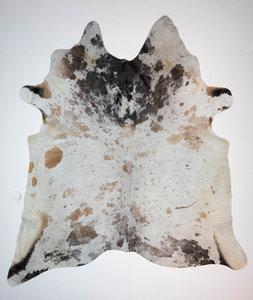 KOELAP Koeienhuid Vloerkleed - Bruinwit Gevlekt Salt & Pepper - 240 x 265 cm - 1004022
