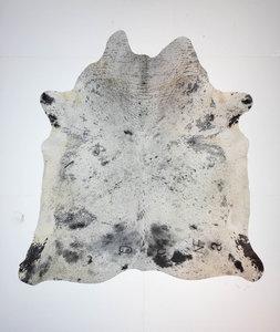 KOELAP Koeienhuid Vloerkleed - Zwartwit Gevlekt Salt & Pepper - 220 x 225 cm - 1004025