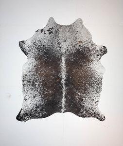 KOELAP Koeienhuid Vloerkleed - Bruinwit Gevlekt Salt & Pepper - 180 x 210 cm - 1004035