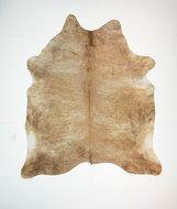 KOELAP Koeienhuid Vloerkleed - Bruin Egaal Langharig - 200 x 230 cm - 1003537