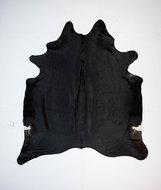 KOELAP Koeienhuid Vloerkleed - Zwart Egaal - 205 x 230 cm - 1003734