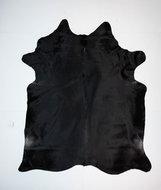 KOELAP Koeienhuid Vloerkleed - Zwart Egaal - 205 x 240 cm - 1003736