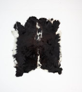 KOELAP Stierenhuid Vloerkleed - Zwartwit Egaal Stierenhuid - 120 x 150 cm - 1003756