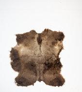 KOELAP Stierenhuid Vloerkleed - Bruin Egaal Stierenhuid - 135 x 145 cm - 1003757