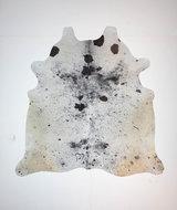 KOELAP Koeienhuid Vloerkleed - Zwartwit Gevlekt Salt & Pepper - 210 x 210 cm - 1004020